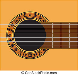 Guitar detail - guitar sound hole