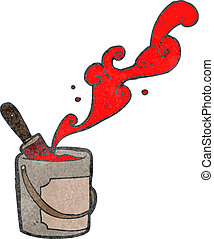 retro cartoon red paint can