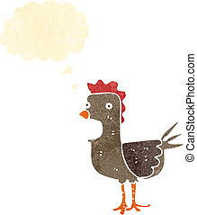 retro cartoon rooster
