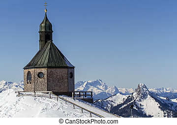 Chapel on top of Wallberg mountain, Germany