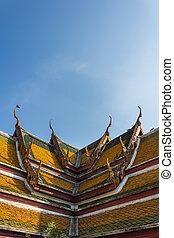 Wat Suthat Thailand - Art in Wat Suthat in Bangkok, Thailand...