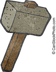 retro cartoon mallet