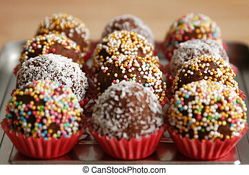 Chocolate balls - cake pops - Small colorful cake pops