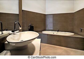 Modern Bathroom - Modern bathroom design. With wash basin...