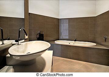 Modern Bathroom - Modern bathroom design. With wash basin...