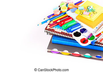 Office stationary. Back to school concept - Office...