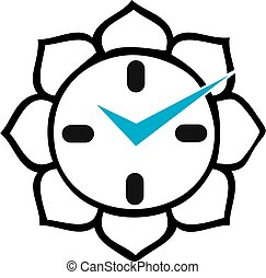 Clock with Buddhist lotus