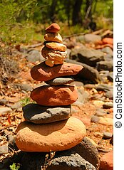 Zen Rocks - Zens rocks stacked in a spiritual location
