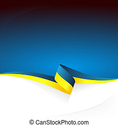 Blue yellow - Abstract color vector background Ukrainian...