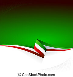 Green white red - Abstract color vector background Italian...