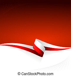 White red - Abstract color vector background Polish flag