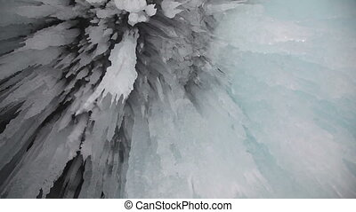Ice grotto on Baikal lake - Shoot with slider using on...