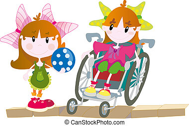 Girls - Vector illustration of girls