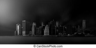láthatár,  Manhattan