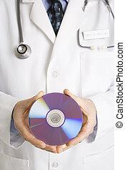 doctor, tenencia, compacto, disco