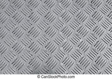 Metal diamond plate as background - Used metal diamond plate...
