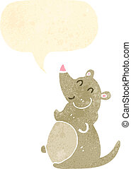 retro cartoon fat rat