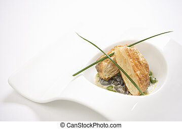 Escargot and croute bread. - Escargot en croute with butter...