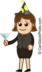 Girl Holding Wine Glass in Party