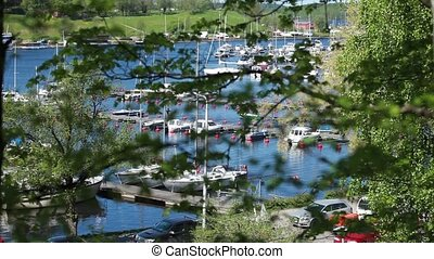 Marina - marina for pleasure boats top view