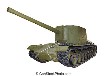 Russian self-propelled gun SU100Y isolated - Russian...