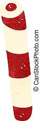 retro cartoon stick of rock candy