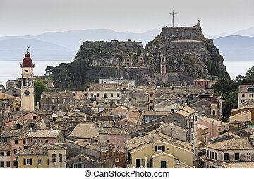 Korfu Stadt - The city of the island of Corfu, Greece