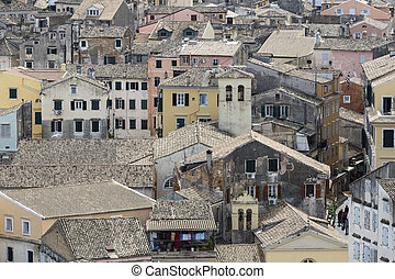 Korfu Stadt - The city of the island of Corfu, Greece