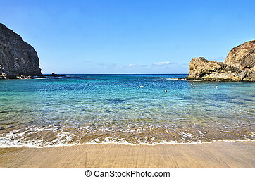Playa Papagayo - Scenic view of Playa Papagayo beach...