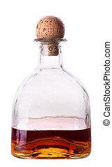 bouteille, alcoolique, boisson, blanc