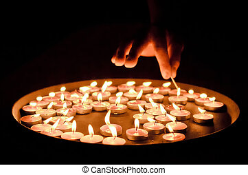 """Candles in the dark - """"Candles in the dark. It is a lot of..."""