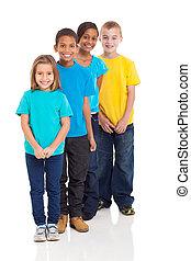multiracial, jovem, crianças