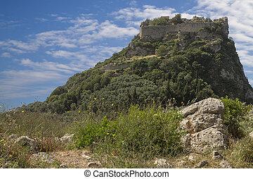Angelokastro fortress on Corfu island, Greece