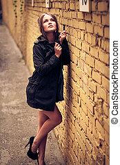 Outdoor summer portrait of young girl