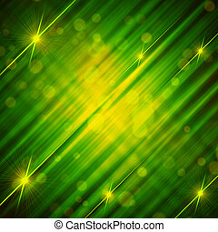 abstract green yellow background with shining lines and...