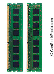 RAM Random Access Memory for PC on white background