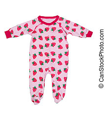 Clothing for newborns with strawberry pattern