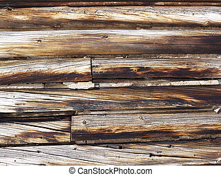 Wood siding - Close up shot of wood siding of barn