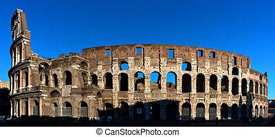 Roman Colosseum - ROME - Circa 2012. The colloseum, the most...