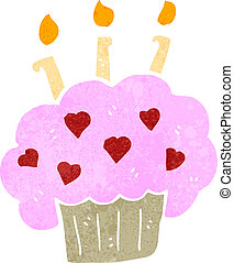 retro cartoon cup cake