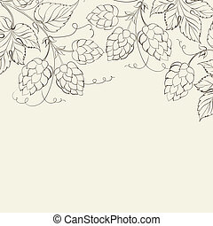 Hop Vector illustration