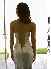 Back of an attractive woman.