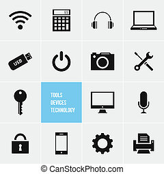 Tools Devices and Technology Vector