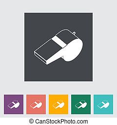 Icon sports whistle Vector illustration