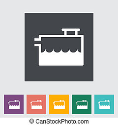 Low coolant indicator Single flat icon Vector illustration...
