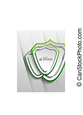 Vector protection shield paper design