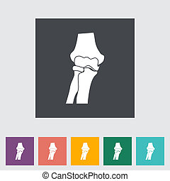 Knee-joint single flat icon Vector illustration