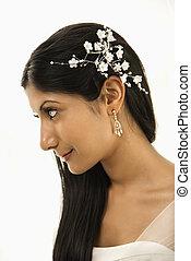 Bridal portrait - Portrait of an Indian bride