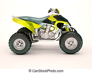 Quad bike - Sports quad bike on a light background