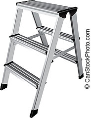 Step ladder - Easy step ladder two steps. Vector...